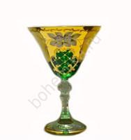Набор бокалов для мартини зелёная лепка (6 штук)