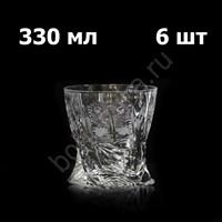 """Набор бокалов для виски """"Квадро"""" (Quadro) 380 мл, 6 шт, хрусталь"""