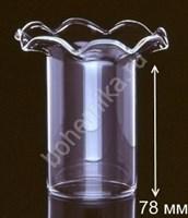 Стеклянная юбочка для люстры 78 мм