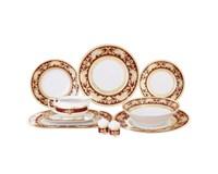 Столовый сервиз на 6 персон 26 предметов Alena 3D Bordeaux Gold (без супника)