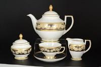 Чайный сервиз Falkenporzellan Belvedere Combi Blue Gold 6 персон 17 предметов