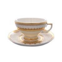 Набор чайных пар Falkenporzellan Crem Empire Gold (6 пар)