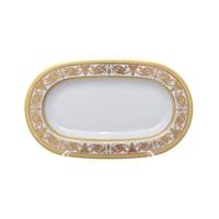 Блюдо овальное Falkenporzellan Imperial White Gold 24 см