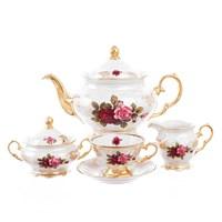 Чайный сервиз на 6 персон Roman Lidicky Фредерика Роза перламутр 17 предметов