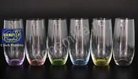 """Стаканы для сока или воды """"Арлекино"""" (6 штук, разноцветные)"""