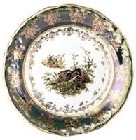 Настенная тарелка 19 см Зеленая охота