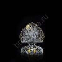Салфетница 12 см хрусталь с лепкой