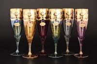 Набор фужеров для шампанского Art Decor Veneziano Color