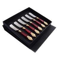 Набор ножей для масла domus versaille gold (6шт)