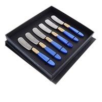 Набор ножей для масла domus victoria gold (6шт)