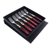 Набор столовых вилок для рыбы domus victoria gold (6 шт)