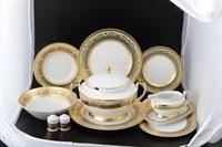 Столовый сервиз на 6 персон 27 предметов Arabesque Seladon Gold