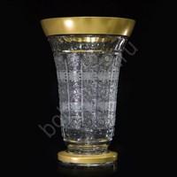 Ваза 30,5 см матовое золото хрусталь