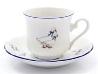 Набор кофейных пар Leander Мэри-Энн Гуси 90 мл(6 пар)