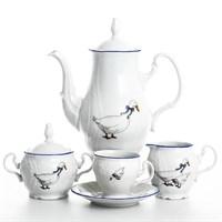 Кофейный сервиз Bernadotte Гуси 6 персон 17 предметов