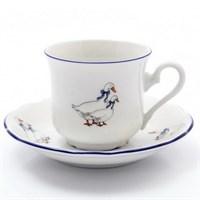 Набор кофейных пар Thun Констанция Гуси 160мл (6 пар)