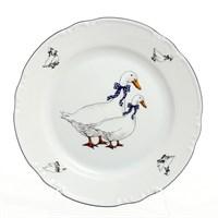 Набор тарелок Thun Констанция Гуси 24 см(6 шт)