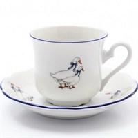 Набор чайных пар Thun Констанция Гуси 230 мл (6 пар)