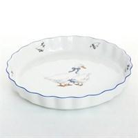 Блюдо круглое для запекания жаропрочный фарфор Thun Гуси 30 см