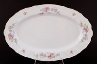 Блюдо овальное Bernadotte Дикая роза золото 39см