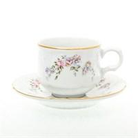 Набор кофейных пар Bernadotte Дикая роза золото 120мл (6 пар)