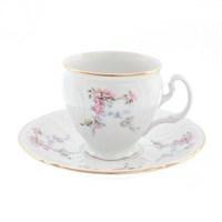 Набор кофейных пар Bernadotte Дикая роза золото 170 мл(6 пар)