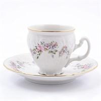 Набор кофейных пар Bernadotte Дикая роза золото 90 мл(6 пар)