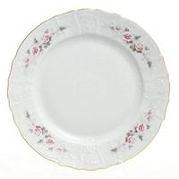 Блюдо круглое Bernadotte Серая роза золото 32 см