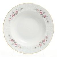 Набор тарелок глубоких Bernadotte Серая роза золото 23 см(6 шт)