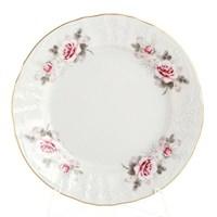 Набор тарелок Bernadotte Серая роза золото 17 см(6 шт)