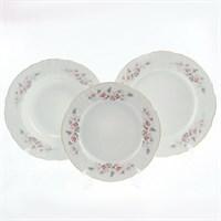 Набор тарелок Bernadotte Серая роза золото 18 предметов