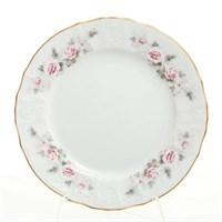 Набор тарелок Bernadotte Серая роза золото 19 см(6 шт)