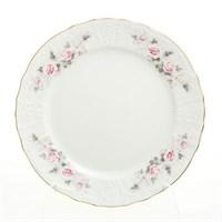Набор тарелок Bernadotte Серая роза золото 21 см(6 шт)