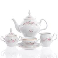Чайный сервиз Bernadotte Серая роза золото 6 персон 17 предметов