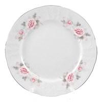 Набор тарелок Bernadotte Серая роза платина 17 см(6 шт)