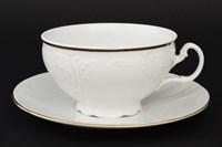 Набор чайных пар Bernadotte Белый узор 360 мл(6 пар)
