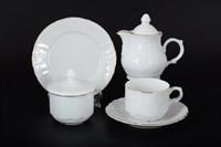 Чайный сервиз на 6 персон Bernadotte Белый узор 22 предмета