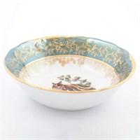 Набор салатников Sterne porcelan Охота Зеленая 19 см(6 шт)