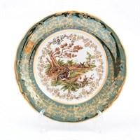 Набор тарелок Sterne porcelan Охота Зеленая 19 см(6 шт)