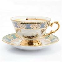 Набор чайных пар Queen's Crown Охота зеленая 220 мл