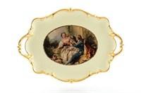 Блюдо с ручками Bruno Costenaro Boucher Ceramiche 46*32*6см