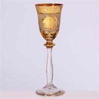 Набор рюмок для водки медовая Анжела Bohemia Версаче (6 штук)