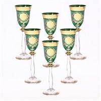 Набор рюмок для водки зеленая Анжела Bohemia Версаче (6 штук)