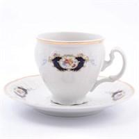 Набор кофейных пар Bernadotte Синий глаз 120мл (6 пар)