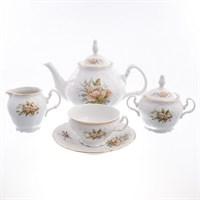 Чайный сервиз Bernadotte Зеленый цветок 6 персон 17 предметов