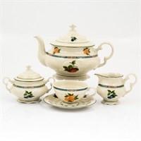 Чайный сервиз Leander Соната Фруктовый сад слоновая кость 6 персон 17 предметов