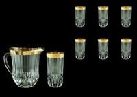 Кувшин со стаканами1230 мл+ 400мл Adagio Antique Golden Classic Decor Astra Gold