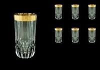 Набор стаканов для воды 400 мл Antique Golden Classic Decor Astra Gold (6 шт)