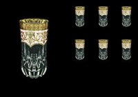 Набор стаканов для воды 400 мл Adagio Flora's Empire Golden Ivory Decor Astra Gold (6 шт)