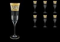 Набор фужеров для шампанского Astra Gold Allegro Fiesole Golden Light Decor 170мл (6 шт)